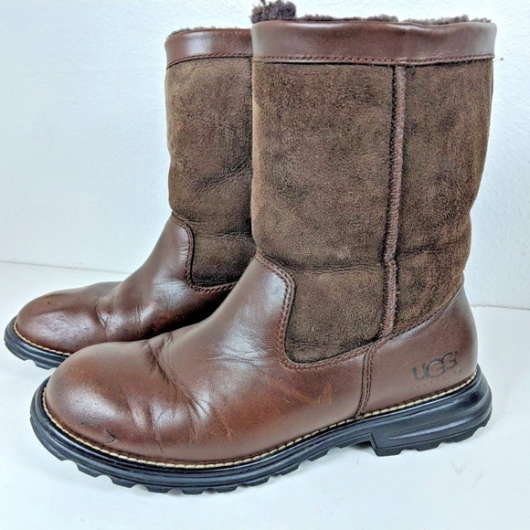 97a5d880295 Ugg Australia Boot 5381 Brooks Leather Sz 8 Brown